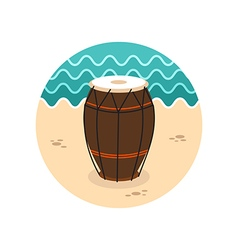 Drum icon Summer Vacation vector