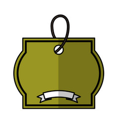 Ecology tag isolated icon vector
