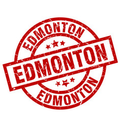 Edmonton red round grunge stamp vector