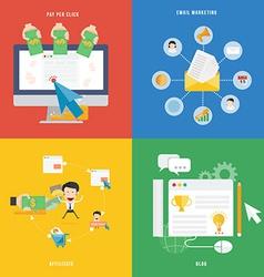 Element of e-commerce pay per click marketing vector