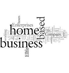 Establish your home based business vector