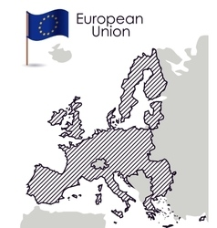 European union map design vector