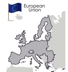 European union map design vector