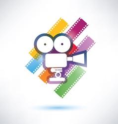 Film and camera icon vector