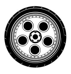 Flat car wheel 9 vector