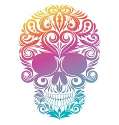 Floral Decorative Skull vector