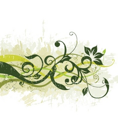 Floral grunge graphic vector