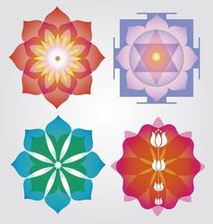 Floral Mandalas set vector image