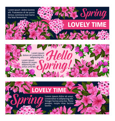 Flowers banners for springtime season vector