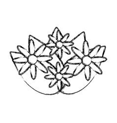 Flowers bouquet decoration vector