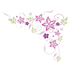 Flowers floral vector image