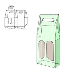 Fold alhogol package vector
