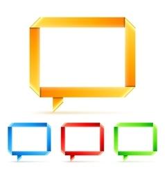 Folded Paper Speech Bubbles vector image