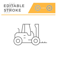 forklift loader line icon vector image