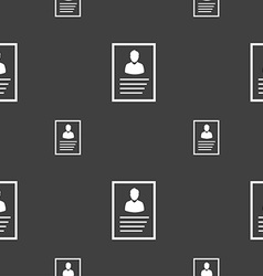 Form icon sign Seamless pattern on a gray vector