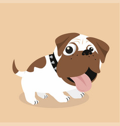 funny of dog breed pug vector image