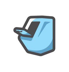 Garbage chute bin icon cartoon vector