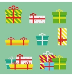 Gift Boxes Flat Presents vector image