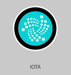golden iota coin crypto currency blockchain coin vector image