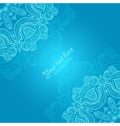 Greeting card with lace ornament vector image