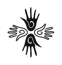 hand community creative logo concept vector image