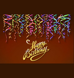 happy birthday sign design background birthday vector image