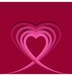 Heart made of ribbons vector image