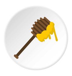 Honey spoon icon circle vector