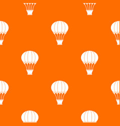 hot air balloon with basket pattern seamless vector image