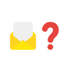 icon concept of mail envelope and blank paper vector image