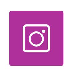 Instagram flat plain logo icon vector