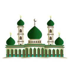 Islamic mosque cartoon isolated vector