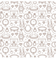Jewelry seamless pattern line vector