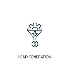 Lead generation concept line icon simple element vector
