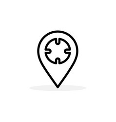 locator line icon in flat style for app ui vector image