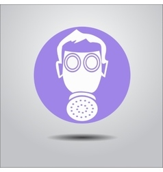 Logo face shield vector image
