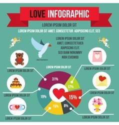 Love infographic flat style vector image