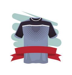 Male fitness sport tshirt vector