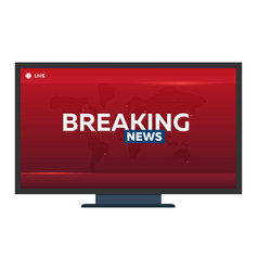 mass media breaking news banner live tv show vector image