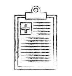 medical order clipboard icon vector image