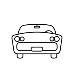 Minimal retro car icon vector image