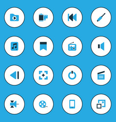 music icons colored set with jack full screen vector image