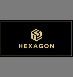Os hexagon logo design inspiration vector