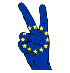 Peace sign of the flag of the European Union vector image