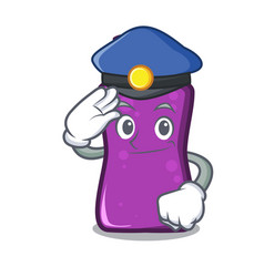 Police shampo character cartoon style vector