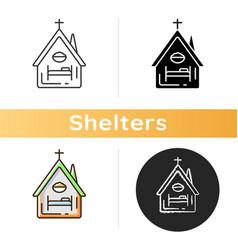 Religious shelter icon vector