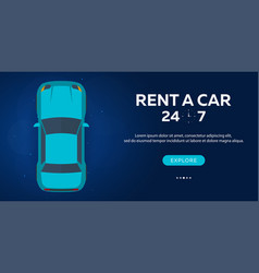rent a car concept of web banner flat vector image