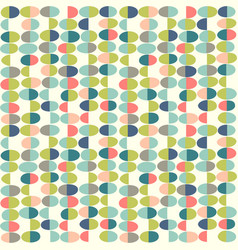 retro seamless pattern of abstract easter eggs vector image