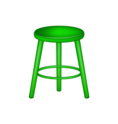 Retro stool in green design vector