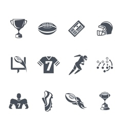 rugor american football icons vector image